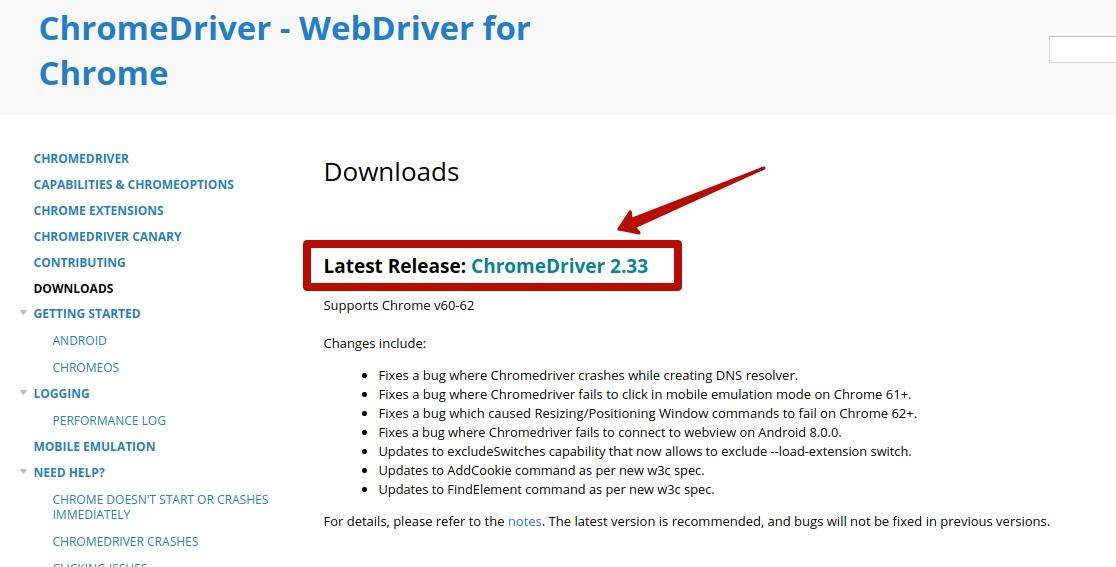 Chromedriver download
